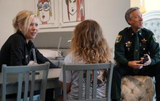 06 - Beth Schell (left), Lt. Alan Canfield (right)